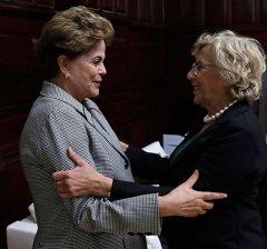 La alcaldesa se reúne con la expresidenta Dilma Rousseff y el expresidente Ernesto Samper