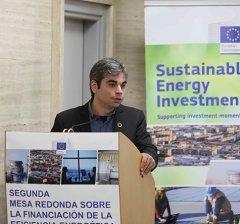 Jorge García Castaño, en una jornada del ICO sobre financiación energética en España