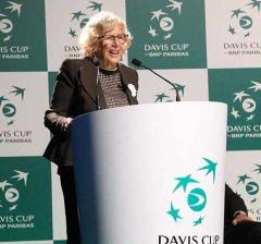 """Carmena: """"Es maravilloso que Madrid sea la capital del tenis mundial en 2019 y 2020"""""""